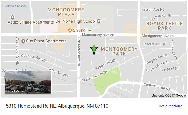 Albuquerque Dermatology Associates map